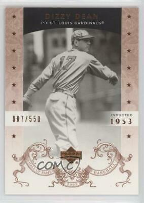 2005 Upper Deck Hall of Fame /550 #17 Dizzy Dean St. Louis Cardinals Card