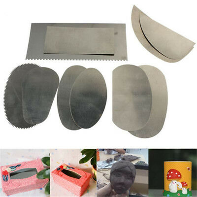 10PCS Pottery Clay Steel Scraper for Polymer Clay Scraper Pottery Tools Steel UK