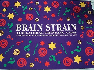 Brain Strain Game - Lateral Thinking Game - 100% - Mind Bending Puzzles - Fun