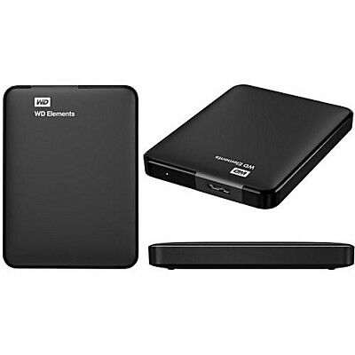WD 1TB Elements Portable External Hard Drive USB 3.0 PC Xbox One Play Station 4