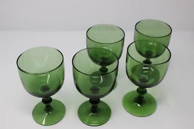 Set of 5 English Antique Wine Glass - Leaded Crystal