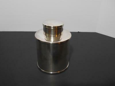 Antique Powder Canister -  Barker Ellis Silver Plated - Circa 1920
