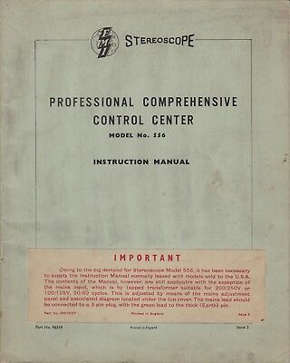 Digital Copies of HMV Stereoscope 556 and 557 Valve Stereo Instruction Manuals