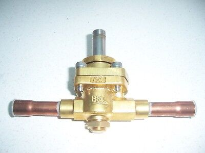 """1/2"""" refrigeration pipe solenoid valve air conditioning brazed connections N/C"""