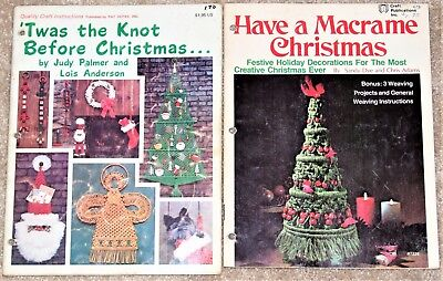 "Vintage 1970's Have a Macrame Christmas & ""Twas the Knot Before Christmas Books"