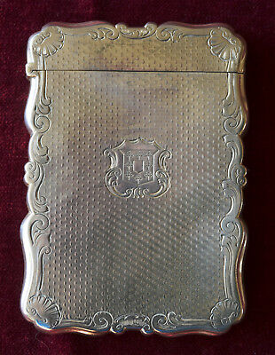 Solid Silver Card Case  by  NATHANIEL MILLS 1847