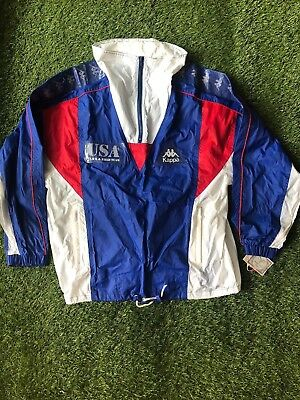 529fd9a8 VINTAGE! KAPPA! TRACK & Field Blue, Red, White USA NWT Olympics Jackets