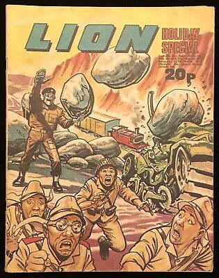 Lion Holiday Special 1974 - Summer Action - IPC - Awesome Cover