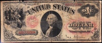 """Affordable *RARE* $1 1878 US Note! Pink """"FLORAL SEAL""""! FREE SHIPPING! A2877608"""