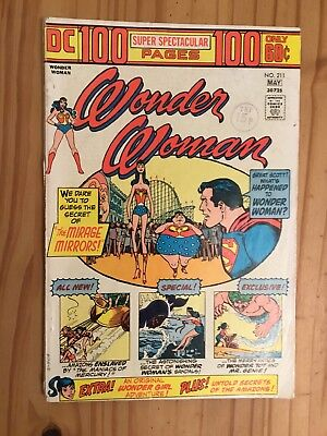 Wonder Woman #211 DC 1974 100 page issue Grade VG