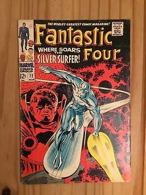 Fantastic Four #72 Marvel 1968 Silver Surfer, Lee & Kirby, Grade VG-