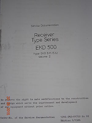 EKD500 English  Service Documentation  Teil 1 /2 , all schematics,  RFT/ FWB