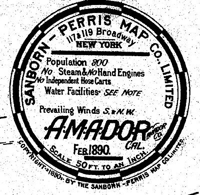 Amador, California~Sanborn Map© sheets~ 6 maps made in 1890, 1895, 1912