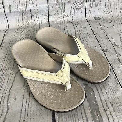 3055f93bcd1 VIONIC Orthaheel Tide II Womens SZ 5 Gray Arch Support Flip Flop Thong  Sandals