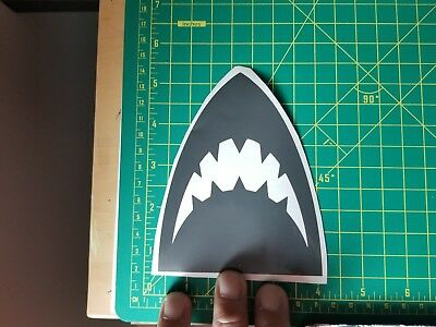 Jaws Great White Shark 4x5 Inch Vinyl Decal Sticker 1980s Color Choice