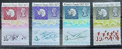 British Antarctic Territory 1971 10th Anniv of Antarctic Treaty Set. MNH.