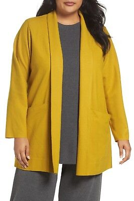 Eileen Fisher Merino Wool & Suede Trim Jacket Xl Ret Clothing, Shoes & Accessories $378 Women's Clothing