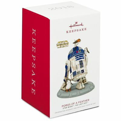 2018 Hallmark Keepsake Star Wars The Last Jedi Porgs of a Feather Ornament R2D2