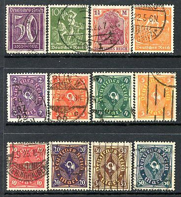 Germany Postage Stamps Scott 167-184, 12 Stamp Used Partial Set!! G595d