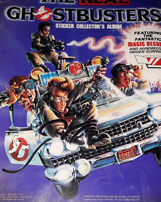 1986 THE REAL GHOSTBUSTERS STICKER COLLECTOR'S Album Vintage LQ