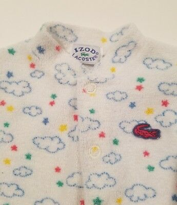 12d5aefa1cad VTG Izod Lacoste Baby boy Infant Sleeper Clouds Sze newborn pajama Terry  cloth