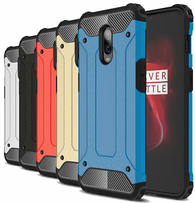 Dooqi For OnePlus 6T Shockproof Tough Hybrid Bumper Armor Protective Cover Case