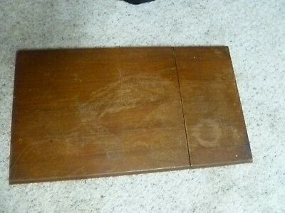 2 Piece Vintage Wood Sewing Machine Table Top Refinish Restore