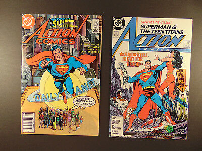 Action Comics #583,284 (1986,87) mid to high grade