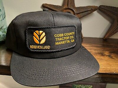 149a533a0ed5a ... coupon code for vintage georgia new holland trucker hat cap 80s rare k  products unique patch