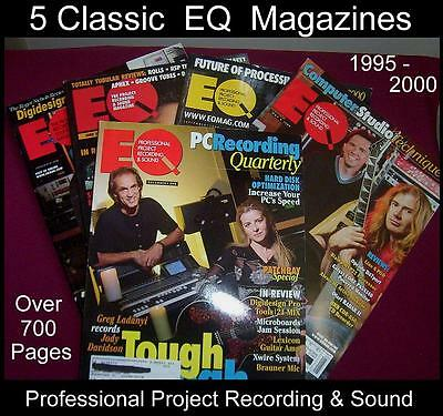 EQ Magazines Lot - 5 issues - Proj Recording & Sound Mag  From 1995 98 99 2000