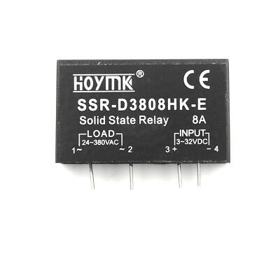 Q00132 PCB Dedicated with Pins Hoymk SSR-D3808HK 8A DC-AC Solid State Relay GN
