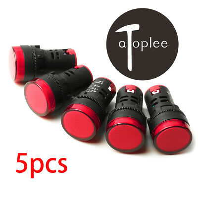 10 PCS Red LED Power Indicator Signal Light 12VDC 20mm Diameter  50mm Height