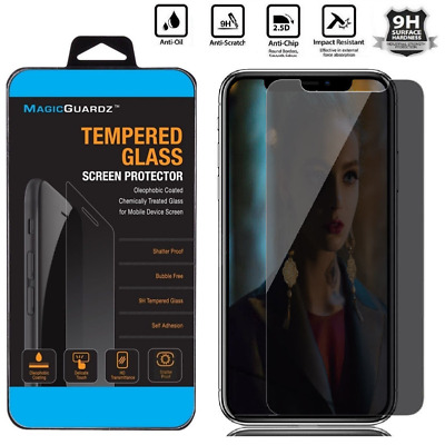 For iPhone XS Max/XR/8 HD Privacy Anti-Spy Tempered Glass Screen Protector Film