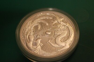2017 Australia 1 oz Silver Dragon & Phoenix BU Sealed Roll of 20 Perth