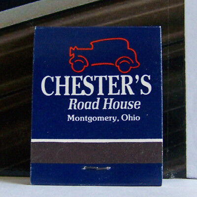 Rare Vintage Matchbook Cover D2 Chester's Road House Montgomery Ohio Car Design
