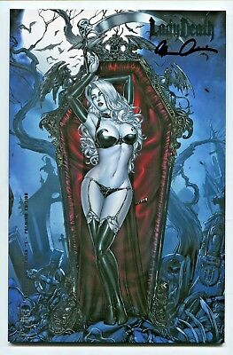 LADY DEATH Extinction Express #1 Premium FOIL Variant Cover by MIKE KROME Signed