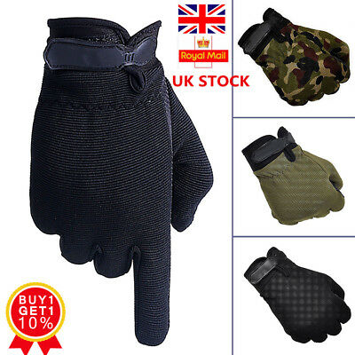 Mens Anti-Slip Tactical Sports Gloves Bicycle Riding Half / Full Finger Gloves