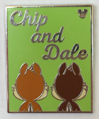 Disney Pin 130037 DLR - Hidden Mickey 2018 - Got Your Back - Chip and Dale Pin