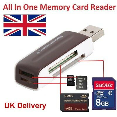 All In One Multi Memory USB Card Reader Micro SD MMC/SDHC/SDXC T-Flash Writer