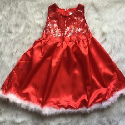 Girl Baby size 2-3 Christmas Dress red sequins