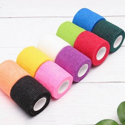 Elastic Self Adhesive Bandage Finger Ankle Knee Pad Tape Sport Protector Tool UK