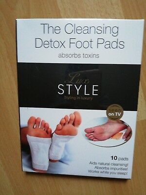The Cleansing Detox Foot Pads, 3 Packungen= 30 Stück