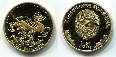 "1 Won Korea 2001 Messing ""Blue Dragon"""