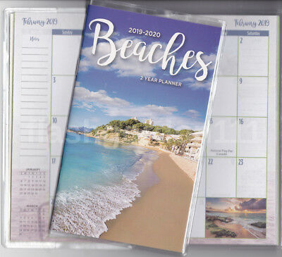 1 ~ 2019-2020 BEACHES 2 Two Year Planner 2019-20 BEACH Monthly Pocket Calendar