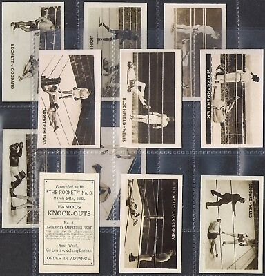 The Rocket-Full Set- Famous Knock Outs (Mf11 Cards) Boxing - All Scanned Exc+++