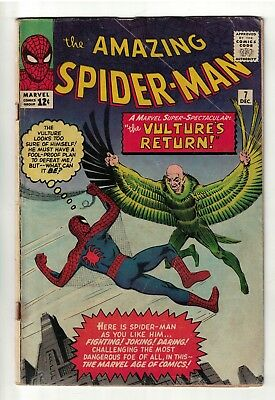 Marvel Comics Amazing Spiderman 7 Vulture  VG 4.0 1963  silver age
