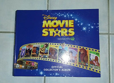 DISNEY  Movie Stars Album Woolworths #2 with Complete Card Set (1-42)