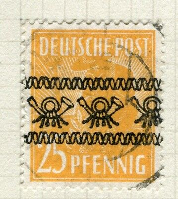 GERMANY; BERLIN Allied Zone 1948 Optd. I on first June issue used 25pf. value