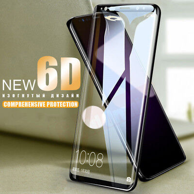 Samsung Galaxy S9 S8 Plus Note 8 9 6D Full Cover Tempered Glass Screen Protector