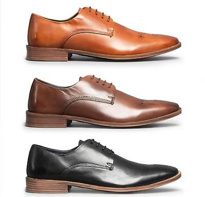 Base London CHARLES Mens Leather Lace Up Derby Office Evening Smart Formal Shoes